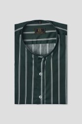 Boros Half Sleeves Moss stripes casual Shirt