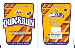 Quick Run LC Synthetic Wood Adhesive, 1 kg, Pouch