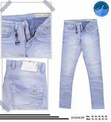 Regular Fit Mens Light Blue Denim Jeans
