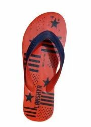 Daily Wear Slippers Orange And Blue Lakshya Casual Slipper, Size: 6