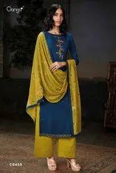 Desinger Unstitched Ganga Woolen Suits, Packaging Type: Plastic Bag