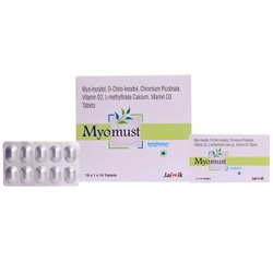 Myo- Inositol, D-Chiro-Inositol, Chromium Picolinate, Vit D2, L-Methylfolate Calcium, Vit D3 Tablets