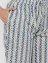 Jaipur Kurti Women Blue Printed Straight Cotton Sleepwear