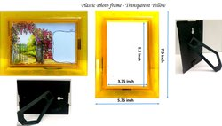 Yellow Plastic Photo Frame