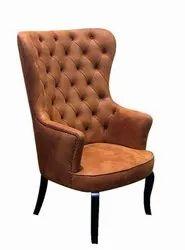 Brown Antique High Back Chair