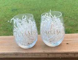Transparent Custom Glassware, For Drink Juice,Water, Packaging: Box