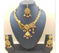 Copper Modern Golden Artificial Necklace Set