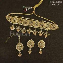 Reverse AD Polki Fashion Necklace Set