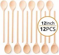 12 inch pine wooden spoon
