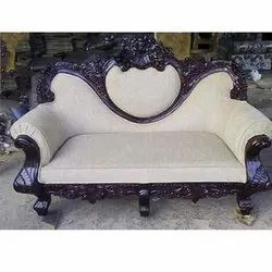 Three Seater Wooden Carved Sofa