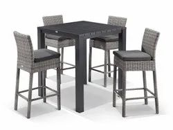 Steel Modern Adele Maldives Bar Dining Set, For Restaurant