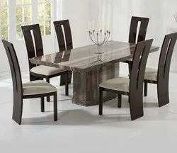 Sufiyan Furniture Plywood Wooden 6 Seater Dining Table Set