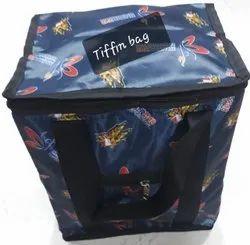 Pvc Blue Printed Tiffin Bag