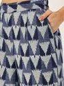 Jaipur Kurti Women Navy Blue Printed Straight Viscose Rayon Kurta With Palazzo
