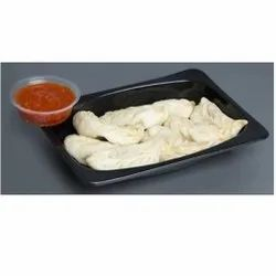 250ml Black Plastic Momos Tray Without Lid