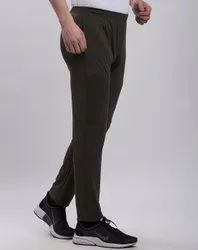 Olive Mens Polyester Sports Lower