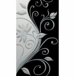 Flower Printed Glass, Thickness: 4 Mm