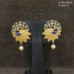 Meenakari Polki Earrings