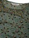 Jaipur Kurti Green Printed A Line Short Kurta