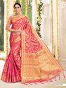 Present Banarasi Classic Look Silk Saree With Designer Blouse Piece