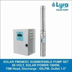 Lyra Solar PMSM/ BLDC/ DC Submersible Pump Set, SS
