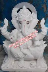 White Marble Ganpti Statue