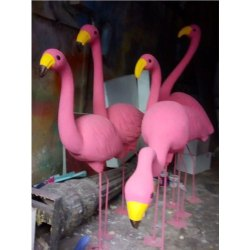 Thermocol Flamingo Bird Sculpture