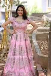 Anu chauhan Gown with hand work and machine work