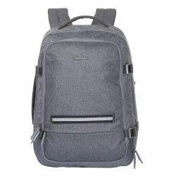 Grey Husker Nylon Business Travel Backpack