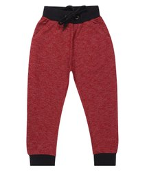Red and Black Girl & Boy Kids Jogger Cotton Lower