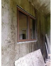 Fenova Brown UPVC Wooden Window, Glass Thickness: 3.5 Mm