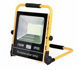 Realbuy Rechargeable Solar LED Flood Light 100-Watt With 15000 mAh Lifepo4 Battery (IP 65)