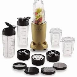 Cookwell Bullet Mixer Grinder 500 Watts 5 Jars 3 Blades Gold, For Wet & Dry Grinding