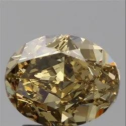 1.63ct Oval Fancy Brown Yellow VVS1 Natural Diamond GIA Certified