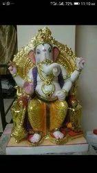 God Shri Singhasan Ganesh Statue