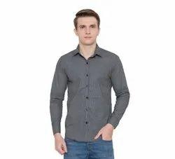 Cotton Collar Neck Men Long Sleeve Shirts, Size: XS-XXL