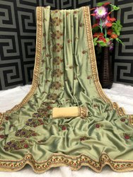 6 Color Vichitara Silk Fancy Designer Wedding Saree, With Blouse Piece, 6.3 With Blouse