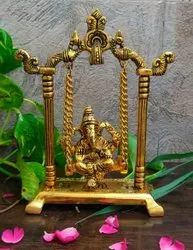 Gold Plated Ganesh Jhula For Wedding Gifts