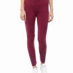 Fleece Woolen Straight Fit Ladies Plain Legging