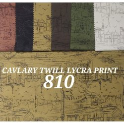Cavalry Twill Lycra Mens Shirt Fabric