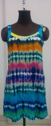 Printed Ethnic Wear Tie Dye Cotton Dress