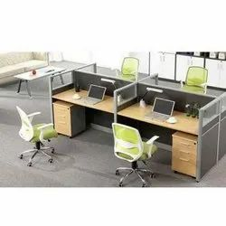 Wooden 4 Office Workstations