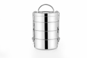 Stainless Steel Round Ap-964 Kadi Tiffin, 4 Ss Container, Packaging Type: Bundle