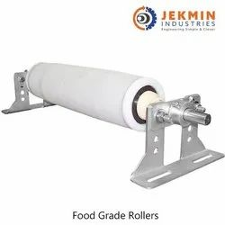 Stainless Steel Food Grade Coated Roller, Length: 8000mm