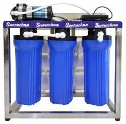 25 LPH Commercial RO Water Purifier Plant, Stainless Steel