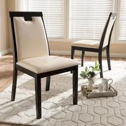 6 Pieces Wood(Frame) Modern Wooden Dining Room Chair, For Hotel