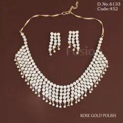 American Diamond Bridal Necklace Set
