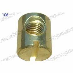 Round Brass Nut, Size: M15
