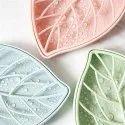 Leaf Soap Dish Leaf Shape Double Layer Soap Dish Case Holder- Bathroom Accessory