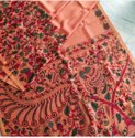 Pongal Special Kalamkari Linen Saree